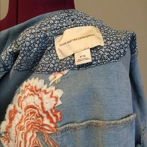 Anthropologie Jackets & Coats - NWT Pilcro Denim Embroidered Jacket